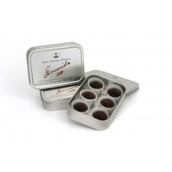 Dark Chocolates with Cocoa Nibs in Tin
