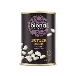 Organic Butter Beans in Water - 400gr
