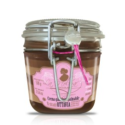 "Gianduja Spread in Glass Jar - 8 Layers of Dark, Milk & White Gianduja ""Ottavia"" - 500gr"