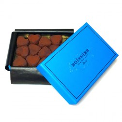 Dark Chocolate Truffle Hearts in Gift Box