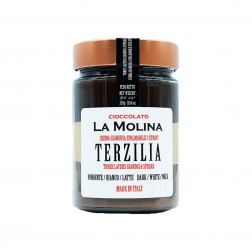"Gianduja Spread in Jar - 3 Layers of Dark, White, Milk Chocolate - ""Terzilia"""