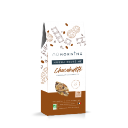 Organic Protein Muesli with Chocolate and Peanuts
