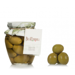 Olives | Green Cerignola Large (with pit) - 550gr Jar