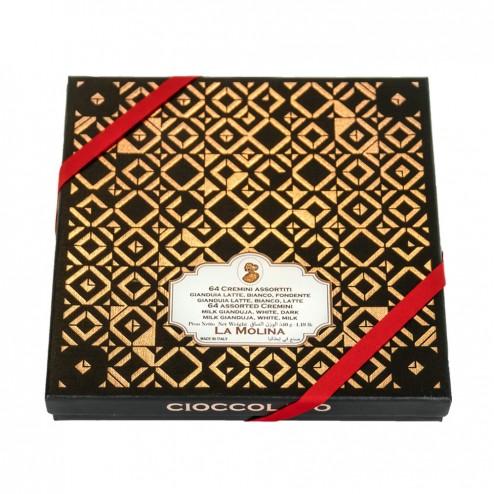 """Chocolats """"Cremini"""" en coffret cadeau - 64 pcs"""
