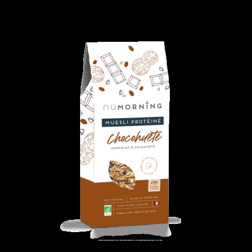 Organic Protein Muesli with Chocolate and Peanuts