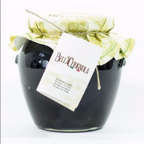 Olives | Cerignola noire grande (avec fosse) - Pot de 550gr