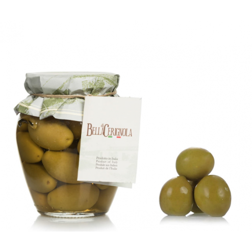 Olives   Cerignola verte grande (avec fosse) - Pot de 550gr
