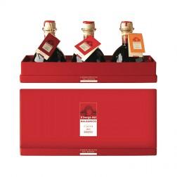 Coffret de Vinaigres Balsamiques - Labels Jaune, Orange et Rouge