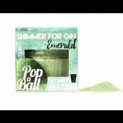 Poudre Scintillante Émeraude Popaball - Saveur Concombre